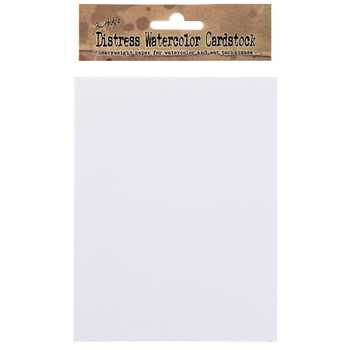 "Tim Holtz Distress Watercolor Cardstock Paper Pack - 4 1/4"" x 5 1/2"""